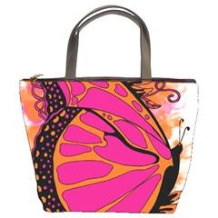 Pink Butter T Copy Bucket Handbag
