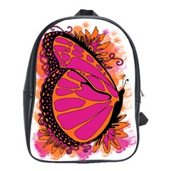 Pink Butter T Copy Large School Backpack
