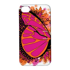 Pink Butter T Copy Apple iPhone 4/4S Hardshell Case with Stand