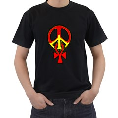 Peace & Eternity Black Mens'' T-shirt