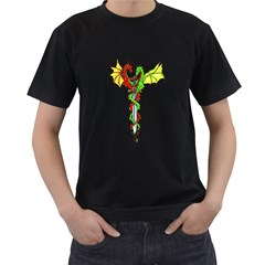 The Dragon Symbol Black Mens'' T-shirt