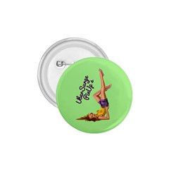 Pin Up Girl 4 Small Button (round)