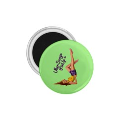 Pin Up Girl 4 Small Magnet (Round)