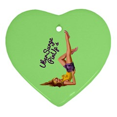 Pin Up Girl 4 Ceramic Ornament (heart)