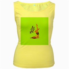 Pin Up Girl 4 Yellow Womens  Tank Top