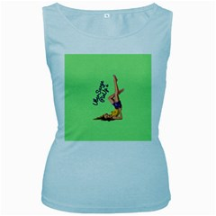 Pin Up Girl 4 Baby Blue Womens  Tank Top