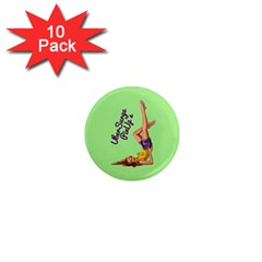 Pin Up Girl 4 10 Pack Mini Magnet (Round)