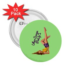 Pin Up Girl 4 10 Pack Regular Button (Round)
