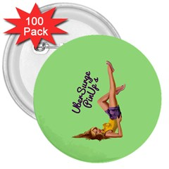 Pin Up Girl 4 100 Pack Large Button (round)