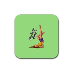 Pin Up Girl 4 4 Pack Rubber Drinks Coaster (Square)