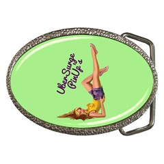 Pin Up Girl 4 Belt Buckle (oval)
