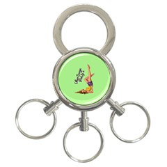 Pin Up Girl 4 3-Ring Key Chain