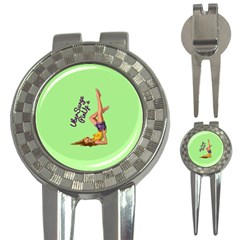 Pin Up Girl 4 Golf Pitchfork & Ball Marker