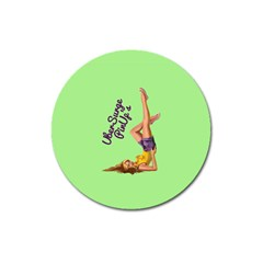 Pin Up Girl 4 Large Sticker Magnet (Round)