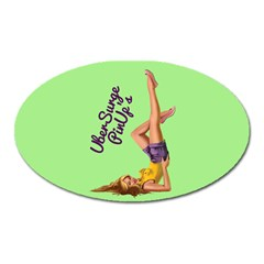 Pin Up Girl 4 Large Sticker Magnet (Oval)