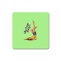 Pin Up Girl 4 Large Sticker Magnet (Square)