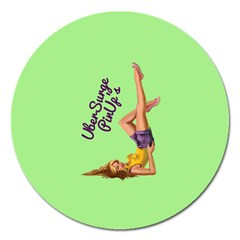 Pin Up Girl 4 Extra Large Sticker Magnet (Round)