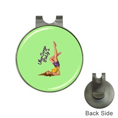 Pin Up Girl 4 Hat Clip With Golf Ball Marker
