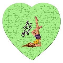Pin Up Girl 4 Jigsaw Puzzle (Heart)