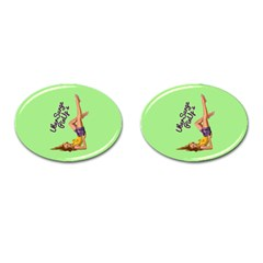 Pin Up Girl 4 Oval Cuff Links