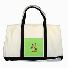 Pin Up Girl 4 Two Toned Tote Bag
