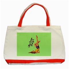Pin Up Girl 4 Red Tote Bag