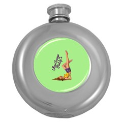 Pin Up Girl 4 Hip Flask (round)