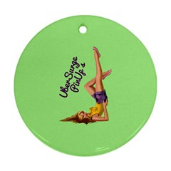 Pin Up Girl 4 Twin-sided Ceramic Ornament (Round)