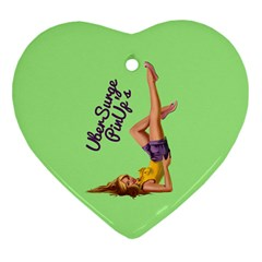 Pin Up Girl 4 Heart Ornament (Two Sides)