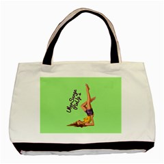 Pin Up Girl 4 Twin-sided Black Tote Bag