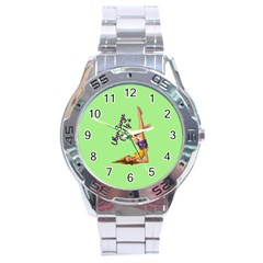 Pin Up Girl 4 Stainless Steel Analogue Watch (round)