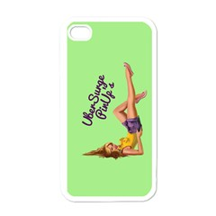 Pin Up Girl 4 White Apple iPhone 4 Case