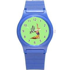 Pin Up Girl 4 Round Plastic Sport Watch Small