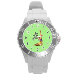 Pin Up Girl 4 Round Plastic Sport Watch Large
