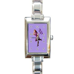 Pin Up 3 Classic Elegant Ladies Watch (Rectangle)