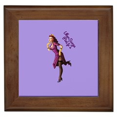 Pin Up 3 Framed Ceramic Tile