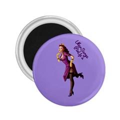 Pin Up 3 Regular Magnet (round)