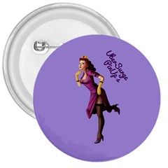 Pin Up 3 Large Button (Round)