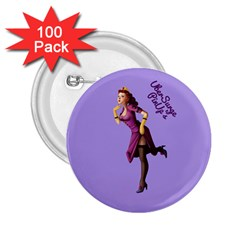 Pin Up 3 100 Pack Regular Button (round)