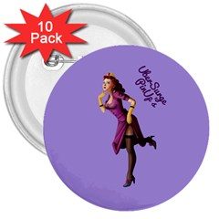 Pin Up 3 10 Pack Large Button (round)