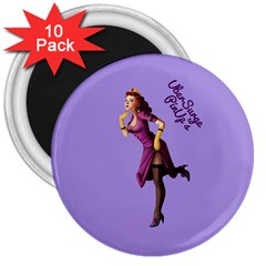 Pin Up 3 10 Pack Large Magnet (Round)
