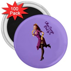 Pin Up 3 100 Pack Large Magnet (round)