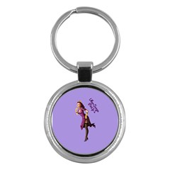Pin Up 3 Key Chain (round)