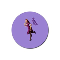 Pin Up 3 4 Pack Rubber Drinks Coaster (Round)