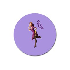 Pin Up 3 Large Sticker Magnet (Round)