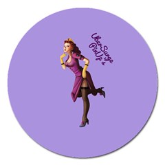 Pin Up 3 Extra Large Sticker Magnet (Round)