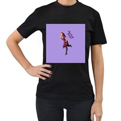 Pin Up 3 Twin-sided Black Womens'' T-shirt
