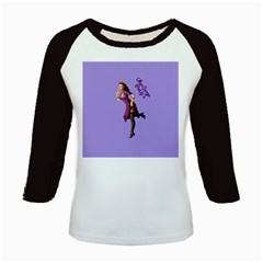 Pin Up 3 Long Sleeve Raglan Womens'' T-shirt