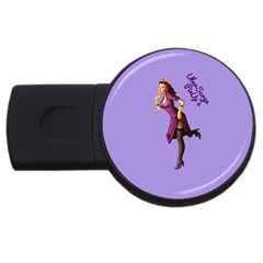 Pin Up 3 4Gb USB Flash Drive (Round)