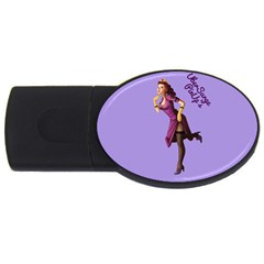 Pin Up 3 4gb Usb Flash Drive (oval)